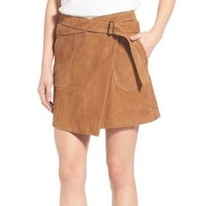 Suede Wrap Miniskirt Olivia Palermo + Chelsea28
